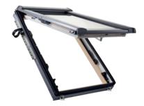 Designo R8 Quadro uitzet-tuimeldakraam met opening van 45° in Hout
