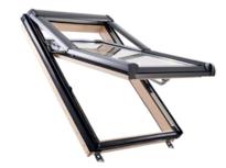 Designo R7 top-tuimeldakraam met openingshoek van 38°  in hout of hout Wit