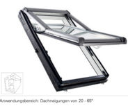 Designo R7 top-tuimeldakraam met openingshoek van 38°  in Kunststof